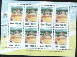 Aland 2011 Souvenir Sheet My Stamps Sport Beach Volley 1v Complete Set ** MNH - Aland