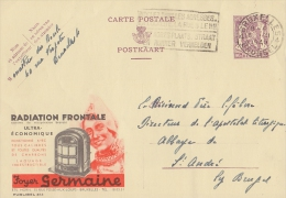 PUBLIBEL 853°: (FOYER GERMAINE) : VERWARMING,KACHEL,CHAUFFAGE,POÊLE,HEATING,STOVE, - Stamped Stationery