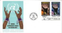 Enveloppe FDC - Namibie - Nations Unies - Responsabilité Directe Des Nations Unies - New York - 1975 - Lettres & Documents