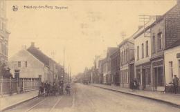 Heist-op-den-Berg Bergstraat Rails Du Tram,cycliste Bien Animé  Circulé En 1937 - Machelen