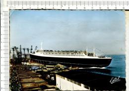 """"""" FRANCE """"  En Construction   -  French Line -  Compagnie Générale Transatlantique  -  ST NAZAIRE - Steamers"""