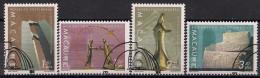 1999 Macao  Scott  1003-6   A 192  Mi. 1047-50 Used    Zeitgenössische Kunst: Skulpturen - Used Stamps