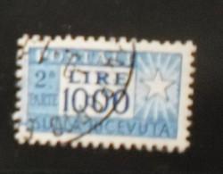 1954 PACCHI POSTALI FILIGRANA RUOTA CAVALLINO USATO LA PARTE DESTRA - Paketmarken