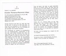 HELDERGEM - KORTRIJK , Doodspr. Van  BROEDER Romanus ALLAER  + 1982 - Historical Documents