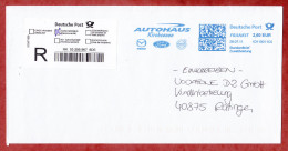 Einschreiben Reco, FRANKIT Neopost 1D110.., Mazda Ford Volvo Autohaus Kirchseeon, 260 C, R-Label 2011 (43168) - Storia Postale
