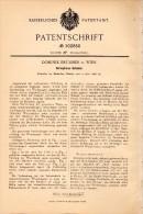 Original Patentschrift - Dominik Brümmer In Wien , 1896, Zerlegbares Gebäude , Baracke , Hausbau , Hütte , Bau , Hochbau - Architektur