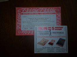 BC7-2-0  2 Documents Chocolat Victoria  Bon Spécial - Chocolat