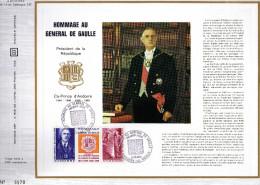 Feuillet Tirage Limité CEF 14 Hommage Au Général De Gaulle - De Gaulle (Général)