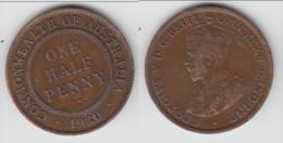 **** AUSTRALIE - AUSTRALIA - 1/2 PENNY 1920 - HALF PENNY 1920 GEORGE V **** EN ACHAT IMMEDIAT !!! - Monnaie Pré-décimale (1910-1965)