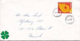 Norway Deluxe BERGEN (Br.) 1983 Cover Brief To ODENSE Denmark Europa CEPT Stamp (2 Scans) - Briefe U. Dokumente