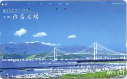Telefonkarte Japan - Brücke,bridge - 431-830 - Advertising