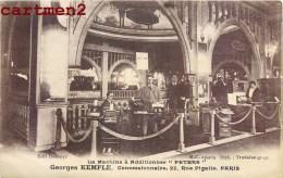 "RARE CPA : PARIS PUBLICITE GEORGES KEMPLE MACHINE A ADDITIONNER "" PETERS ""  22 RUE PIGALLE CALCULATRICE METIER STAND 75 - Arrondissement: 09"
