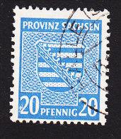 Germany, Saxony Provine, Scott #13N9, Used, Coat Or Arms, Issued 1945 - Zone Soviétique