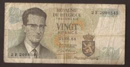 België Belgique Belgium 15 06 1964 20 Francs Atomium Baudouin. 2 F 2008545 - [ 6] Treasury