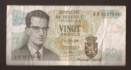 België Belgique Belgium 15 06 1964 20 Francs Atomium Baudouin. 2 F 3517636 - 20 Francs