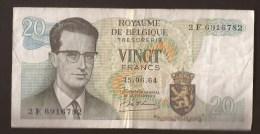 België Belgique Belgium 15 06 1964 20 Francs Atomium Baudouin. 2 F 6916782 - [ 6] Treasury