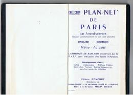 PLAN - NET DE PARIS PAR ARRONDISSEMENT - Transports