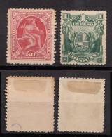 Uruguay Mi# 155-56 * Mint 50c + 1P 1901 - Uruguay