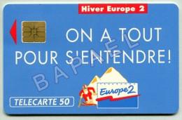 Carte Téléphonique De France - Hiver Europe2 - Sites Olympiques (Recto-Verso) - Jeux Olympiques