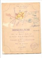 BOISGUILLAUME PLAN DE SITUATION  PROPRIETES CONSORTS FLEURY PAR J & R HEBERT GEOMETRE 1959 - Technische Pläne