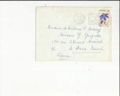Enveloppe Timbrée Flamme  De  Andorre L´Hiver  Adressé A Mr Mme Barray-Mr Guyader Au Havre 76 - Französisch Andorra