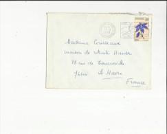Enveloppe Timbrée Flamme  De  Andorre L´Hiver  Adressé A  Mme  Courseaux Maison De Retraite Hauser Au Havre  76 - Französisch Andorra