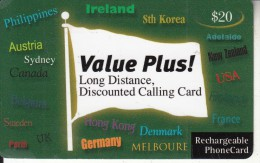 AUSTRALIA - Value Plus Recharge Card $20, Used - Australia