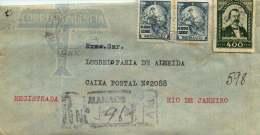 1940  Internal Air Letter  Scott 458 X2,  484 - Brazil