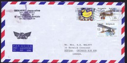 1994  Lettre Avion Pour Le Canada  Avions Anciens COB 2543, 2544  UNICEF COB 1495 - Belgique