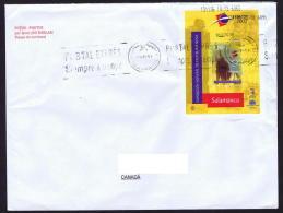 2002  Bloc Feuillet Exposition Mondiale De Philatélie Jeunesse Sur Lettre Pour Le Canada - 2001-10 Storia Postale