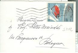 STORIA POSTALE, BOB £.40, S 1012, ISOLATO IN TARIFFA MINI LETTERA 1° PORTO, 1967 PER BOLOGNA, - Inverno