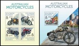 slm13713ab Solomon Is. 2013 Motorcycles Motorbike 2 s/s