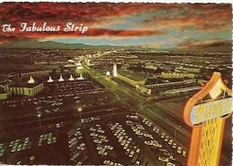 NEVADA-LAS VEGAS: POSTCARD THE FABULOUS LAS VEGAS STRIP. CAESARS PALACE. GREAT WHITE WAY. DUNES HOTEL.   GECKO.