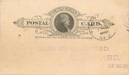 United States US UX9 Postal Card 1888 Lincoln NB To Burchard Nebraska NB - Postal Stationery