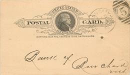 United States US UX9 Postal Card 1893 Kansas City KS To Burchard Nebraska NB - Postal Stationery