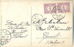 4cp-812: Fantasiekaartje Met Paar Van ½ Cent: ZUNDERT > Gandt  B - Lettres & Documents