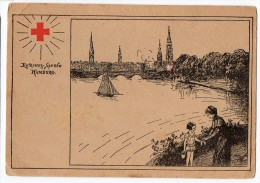 Red Cross German Artist Signed Nurse Ca1900 Vintage Original Postcard Cpa Ak (W3_3290) - Rotes Kreuz