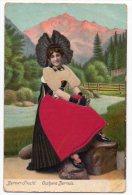 Silk Berner Fracht Costume Bernois Suisse Ca1900 Vintage Original Postcard Cpa Ak (W3_3292) - Cartoline