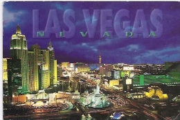 NEVADA-LAS VEGAS: POSTCARD LAS VEGAS CITY AT NIGHT . CIRCULATED. MATASELLADO 1997. GECKO
