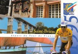Saint-Brieuc - Départ Du Tour De France 1995 - Multivues - Miguel Indurain - Carte Non Circulée - Cyclisme
