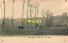 Cpa 78 Mesnil Le Roi, La Prairie, Le Coteau, Troupeau De Vaches..., Carte Colorisée Affranchie 1908, Peu Courante - Otros Municipios
