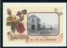 02  CYS  La  COMMUNE   ...... Gare Souvenir Au Fusain Creation Moderne Série Limitée Et Numerotée 1 à 10 ... N° 2/10 - Frankrijk
