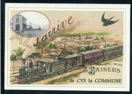 02  CYS  La  COMMUNE     ......  TRAIN  ..souvenir  Creation Moderne Série Limitée Et Numerotée 1 à 10 ... N° 2/10 - Frankrijk