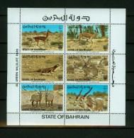 Bahrain1982,6V In Sheetlet,animals,dieren,t Iere,animaux,MNH/Postfis (L1395ca) - Gibier