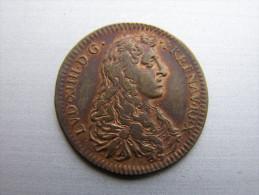 2  JETONS LOUIS XIV.. ALSACE  Aide A L Empire Contre Les Turcs - Royal / Of Nobility