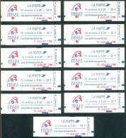 Liberté De Delacroix - 2376-C12A Série Complète Des 11 Carnets Philex France (Juillet1789) Tous Différents  Non Ouverts - Markenheftchen