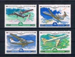 UdSSR/Sowjetunion 1979 Flugzeuge Mi.Nr. 4843/46 Kpl. Satz ** - Ongebruikt