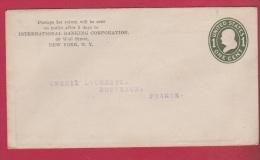 ETAT UNIS     ///  ENTIER  POSTAL  //  DE NEW YORK   ///  POUR BORDEAUX   // - Postal Stationery