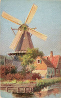 Cpa Chromo Hollandais Très Beau Moulin,  (32.30b) - Peintures & Tableaux