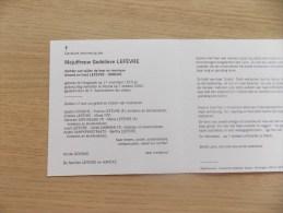 Doodsprentje Godelieve Lefèvre Hoogstade 17/11/1913 Veurne 7/10/2000 ( D.v. Amand En Irma Hancke ) - Religione & Esoterismo